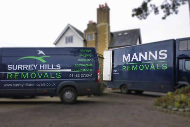 Modern removals vans